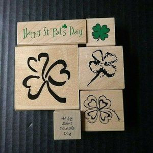 Rubber Stamp Happy St. Patrick Pats Day Lot of 6